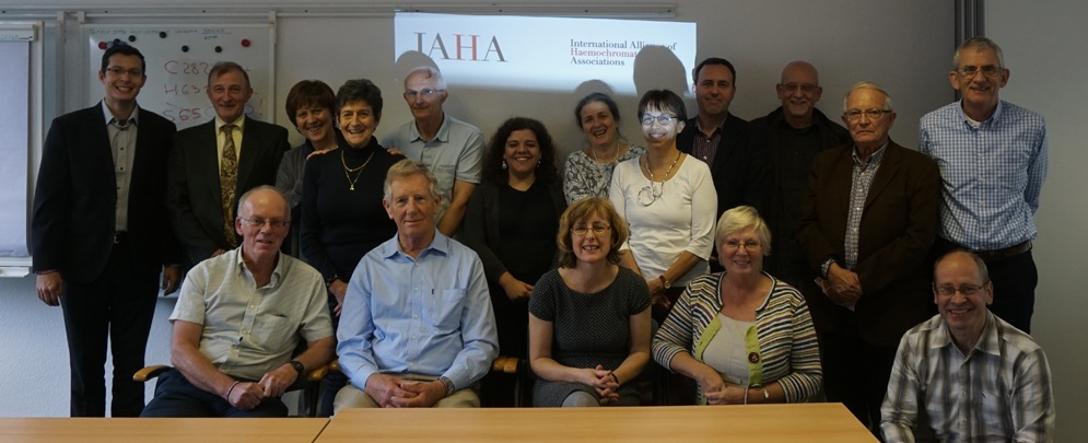 Attendees in Cologne. Top row, left to right: Paulo Santos (Brazil), Robert Sorrill (Italy), Elisa Paletti (Italy), Françoise Courtois (France, EFAPH), Pierre Brissot (France, EFAPH), Emerência Teixeira (Portugal), Mária Ábele (Hungary), Barbara Butzeck (Germany, EFAPH), Ketil Toska (Norway), David Head (UK), Jean-Daniel Kahn (France, EFAPH), Howard Don (UK). Front row, left to right: Rob Evans (UK), Ben Marris (Australia), Desley White (UK), Pat Evans (UK), John Severn (UK).